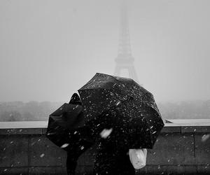 paris, snow, and tour eiffel image