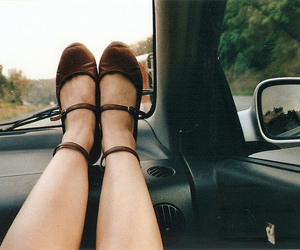shoes, car, and girl image