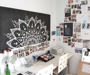 room, bedroom, and desk image