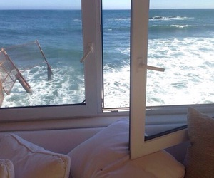 sea, beach, and window image