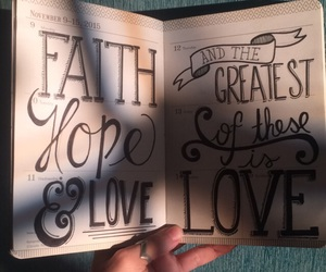 bible, calligraphy, and quotes image