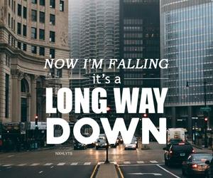 long way down, one direction, and Lyrics image