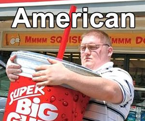 funny, american, and drink image