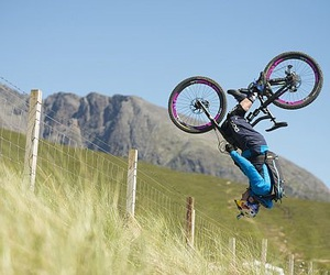 mountain bike, ride, and front flip image