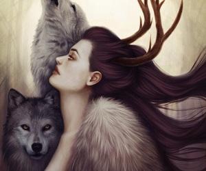 wolf, art, and stark image