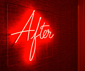 red, light, and neon image