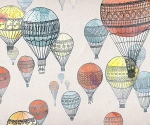 balloons, art, and background image