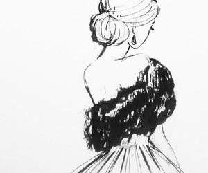 art, drawing, and elegant image