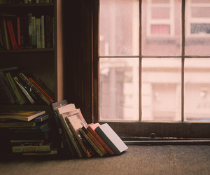 book, window, and vintage image