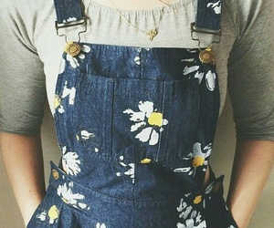 daisy, overalls, and cute image