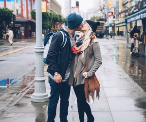 blonde, couple, and kiss image
