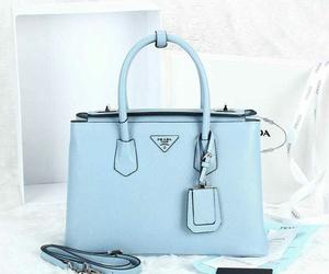 bag, light blue, and Prada image