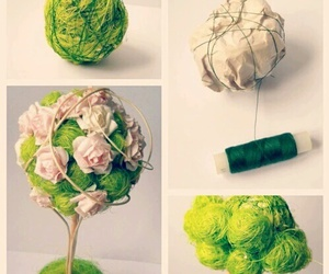 ♥ and flowers diy green image