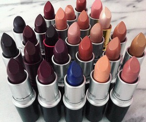 lipstick, makeup, and mac image