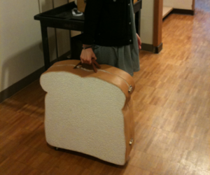 funny, bread, and suitcase image