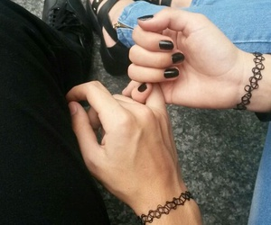 black, cute, and love image