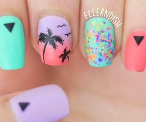 nails, summer, and art image