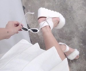 pale, white, and fashion image