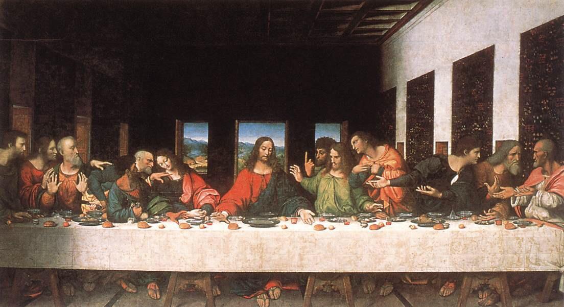 jesus, Leonardo da Vinci, and painting image