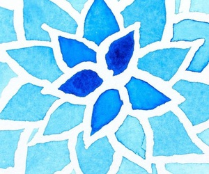 blue, lock screen, and flower image