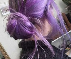 purple, grunge, and hair image