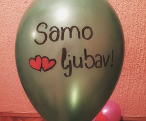 baloon, heart, and love image