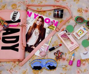 girly, bag, and magazine image