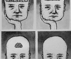 brain, happy, and sad image