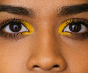 eyeshadow and yellow image