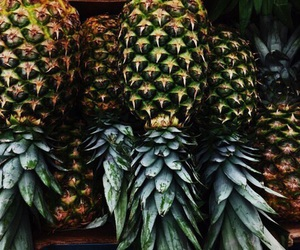 green, tropical, and pineapple image