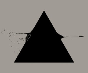 triangle, black, and bullet image