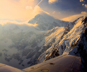 sky, mountains, and snow image