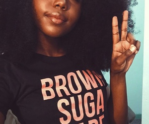 Afro, fro, and pretty women image