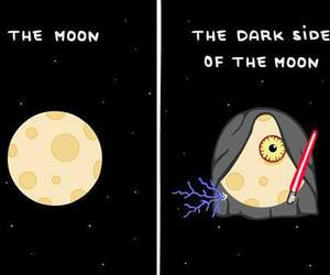 moon, funny, and dark side image
