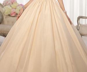 dress, vestido, and yellow image