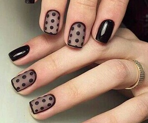 black, chic, and dots image