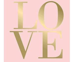 love, pink, and gold image