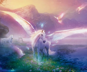 unicorn, fantasy, and horse image