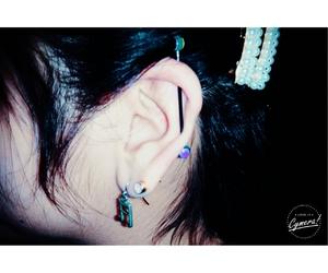 ear, femenine, and industrial image