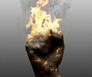arm, burn, and fire image