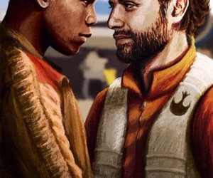 finn, poe, and star wars image