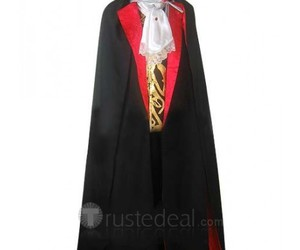 vampire dracula cosplay, black cloak cosplay, and cool cosplay outfit image
