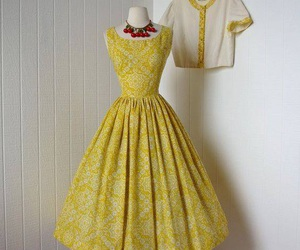 dress, 50s, and yellow image