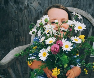 flowers and baby image