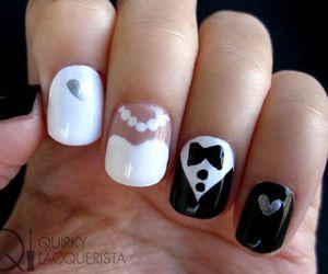nails, wedding, and nail art image