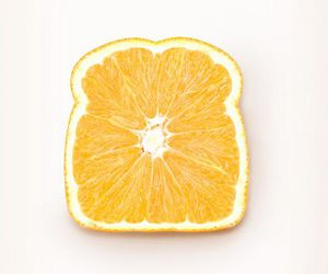 orange, fruit, and bread image