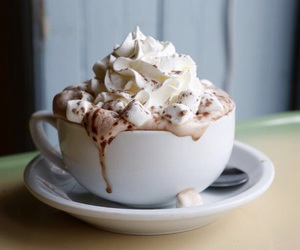 whipped cream and hot chocolate image