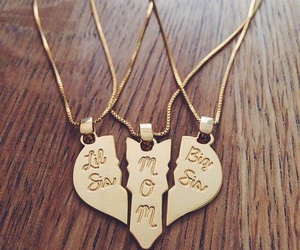 golden, heart, and necklace image