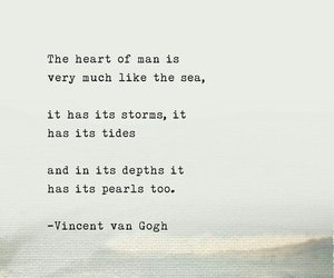 quotes, sea, and vincent van gogh image
