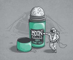 фон, серый, and луна image